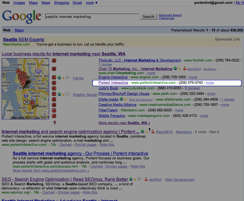 woo hoo - a better local search result