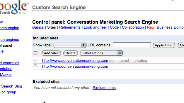 Google Custom Search: Removing Pages From Your Search Engine