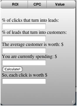 click value calculator