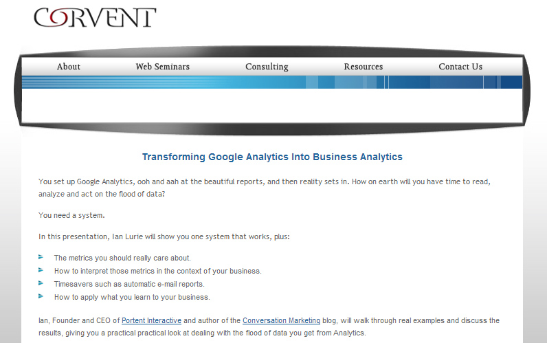 Web analytics webinar today it 39 s free portent for Portent usage examples