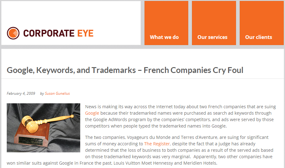 Competitive keyword bidding france loses its mind portent for Portent french