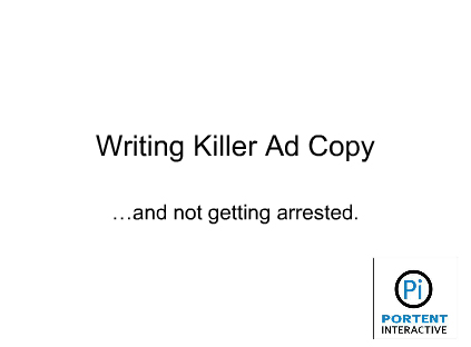 writing ad copy for ppc advertising