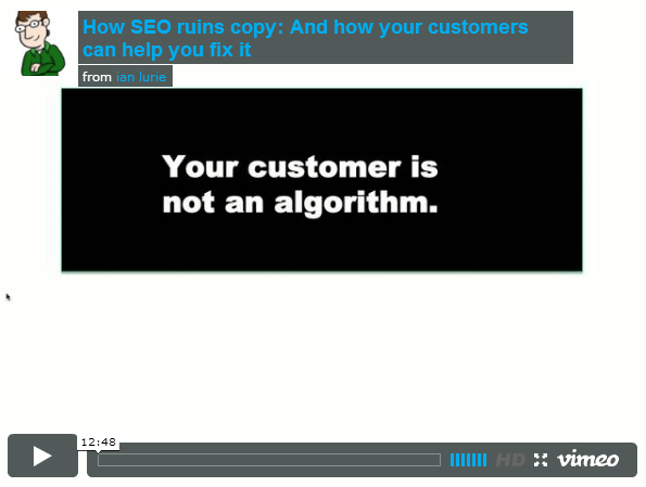 How seo ruins copy and how your customers can fix it for for Portent not working