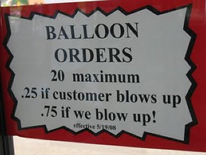balloon orders copywriting fail