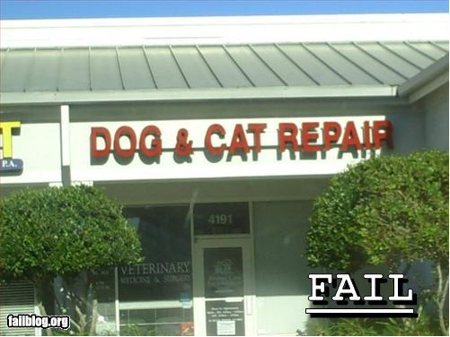 dog and cat repair fail