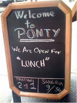 ponty lunch copywriting fail