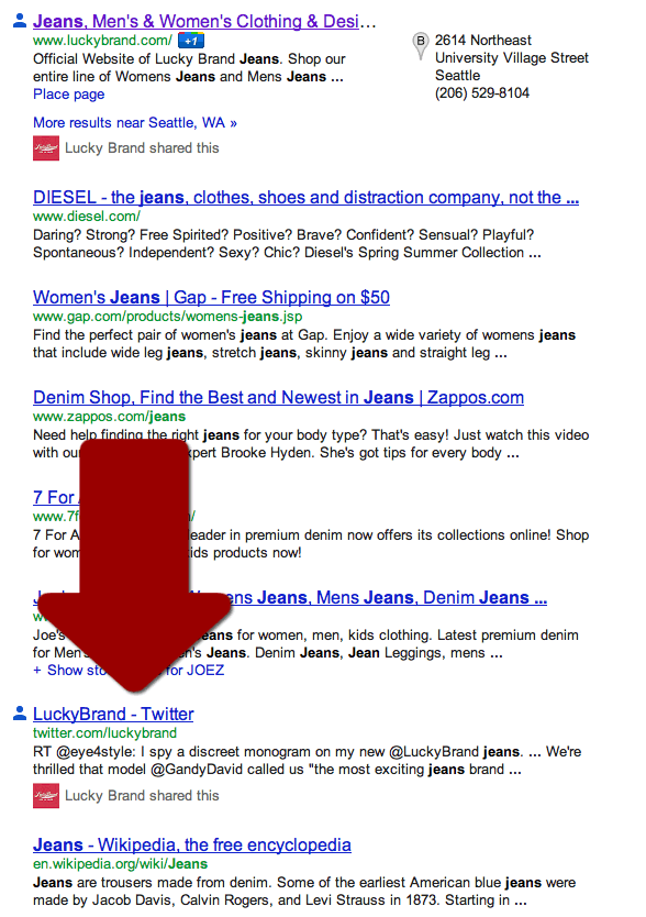 Twitter shows up in google serps again portent for Portent means