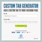 Working Screenshot for Custom Tab Generator
