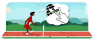 Olympic hurdles Google Doodle