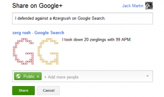 zerg rush google plus