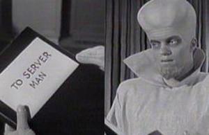 "Twilight Zone ""To Serve Man"""
