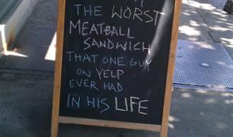 Worst Meatball Sandwich Ever