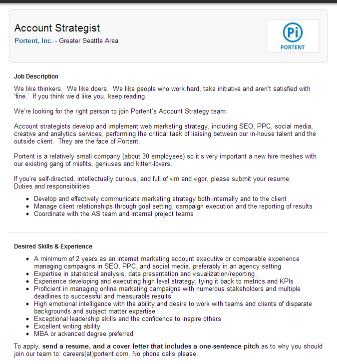Optimize your new linkedin company page in 7 steps portent for Portent jobs