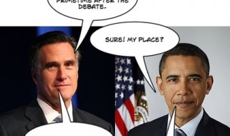 Obama and Romney talk about KOMO 4