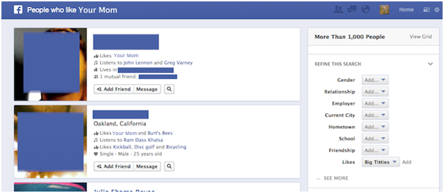 Who should care about facebook graph search hint for Portent usage examples