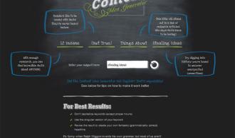 Screencap of Content Idea Generator