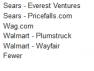 Screen cap of Sears and Walmart sharing branding with other companies.
