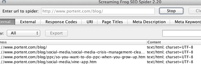 Sticking to one folder in Screaming Frog