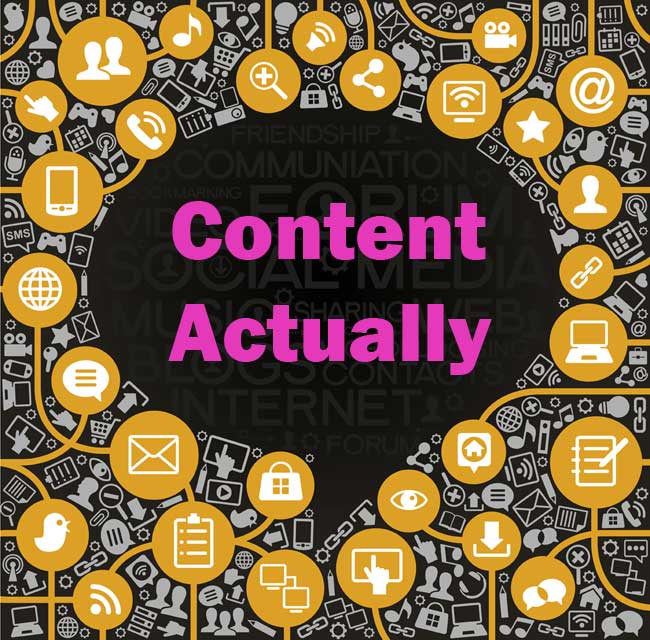 Content actually is all around not just on your blog for Portent not working