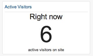 Screencap of active visitors