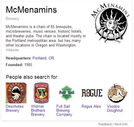 McMenamins Google profile