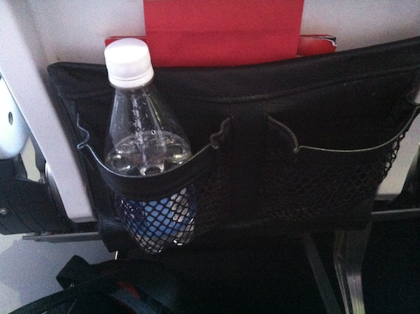 Virgin America seatback mesh