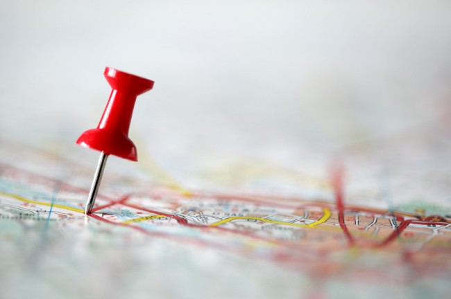 map with pushpin