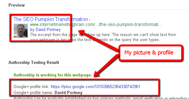 Screenshot of pumpkin SEO experiment twelfth
