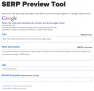 SERP Preview Tool