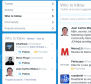 Twitter's who to follow tool is a good research aid