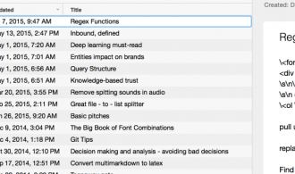 My Evernote knowledge base