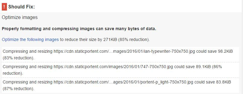 PageSpeed Insights: portent.com images