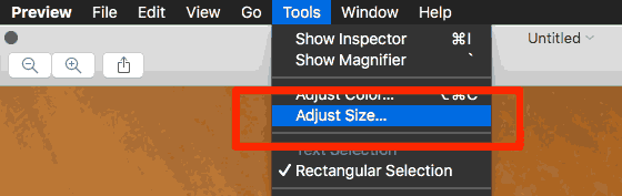 Adjust image size in Preview - it's easy!