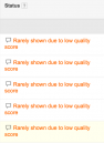 Low quality score