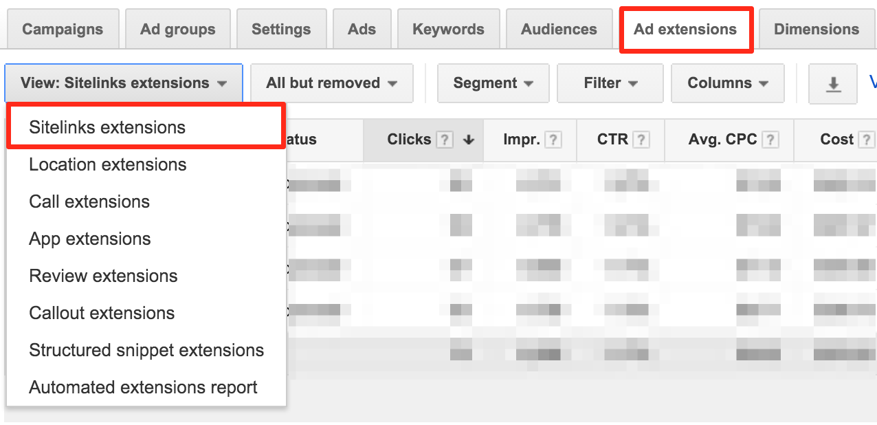 What are google adwords sitelinks seo land for Portent usage examples