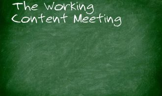 The Working Content Meeting