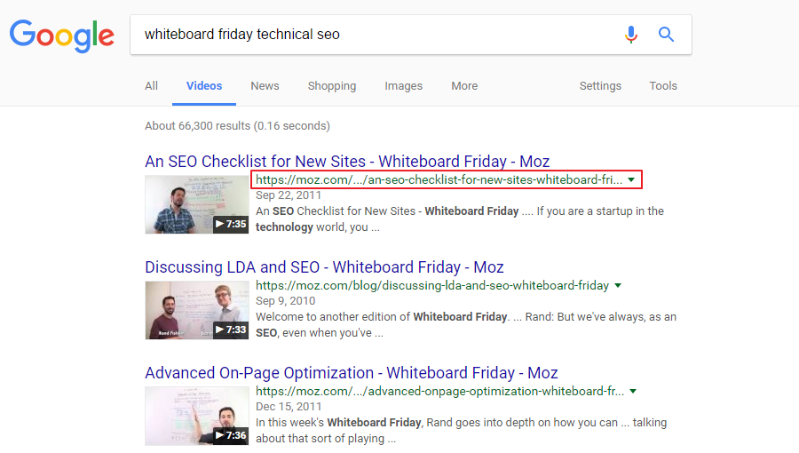 Moz Whiteboard Friday Video SEO Best Practices Portent