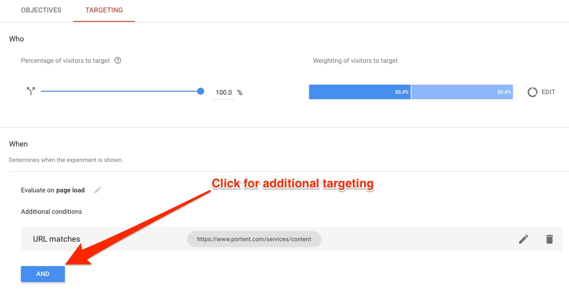 13 tips for using google optimize if you 39 re not a for Portent usage examples