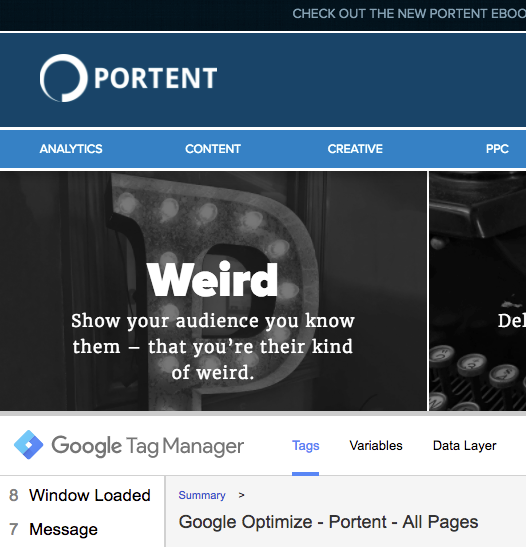 Test Your Tags for Google Optimize - Portent