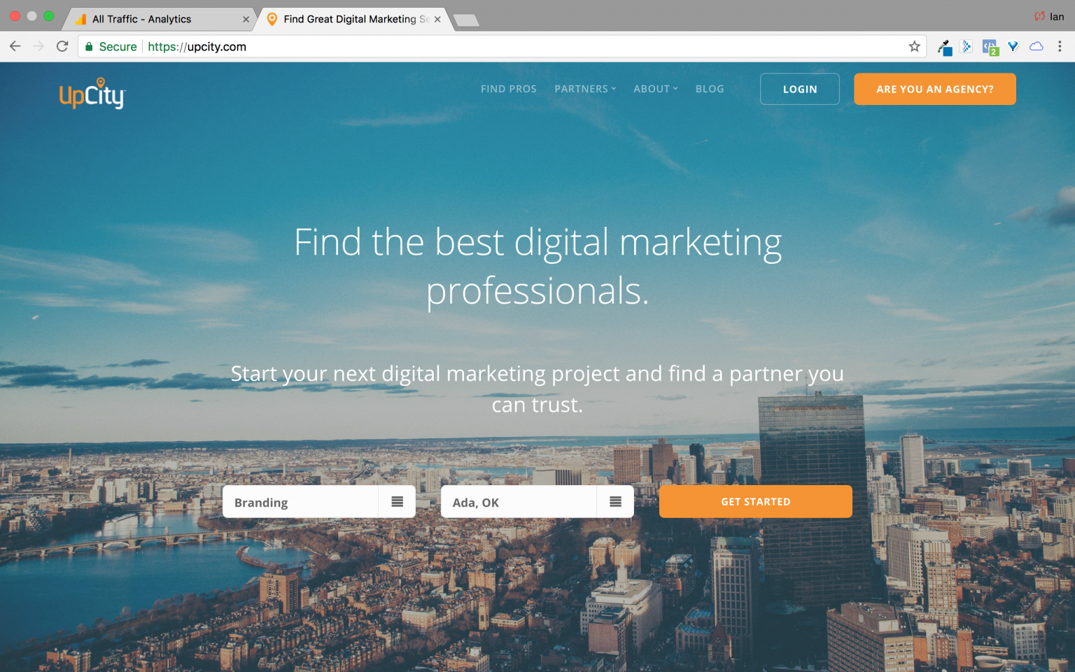 UpCity is a directory of digital marketing consultants and professionals