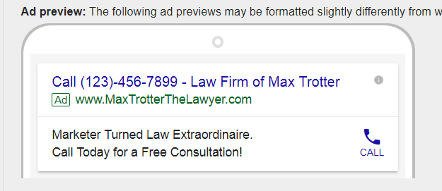 Use Call-only ad extensions to convert prospects more effectively in PPC lead generation for law firms