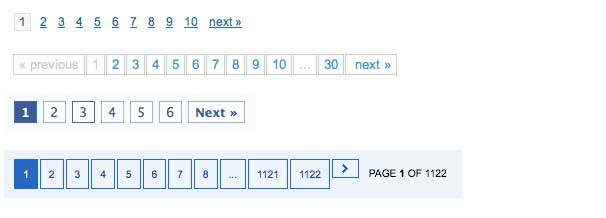 Simple pagination examples