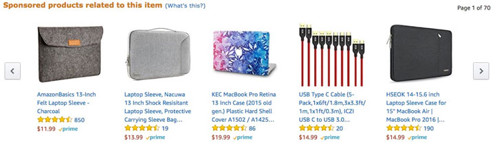 Use Amazon Ads to show your products on competitor listings