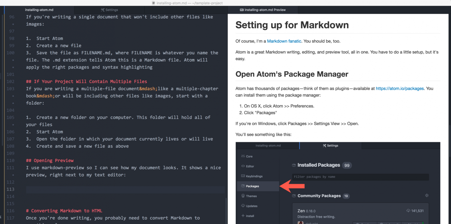 Markdown Preview in Atom: Cool, huh?