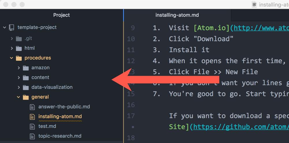 Atom Project Folders