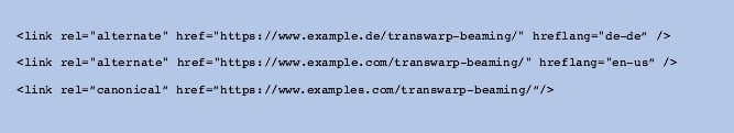 Example of how to implement a canonical tag correctly