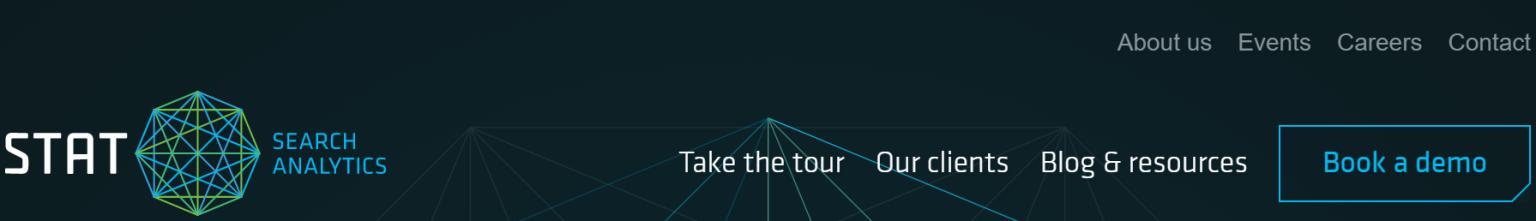 Screenshot of STAT global navigation