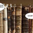Lessons for content marketers from classic novels, two old books having a conversation