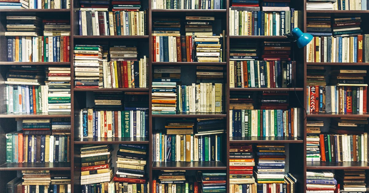 Does content marketing actually work library overfull of old books - Portent