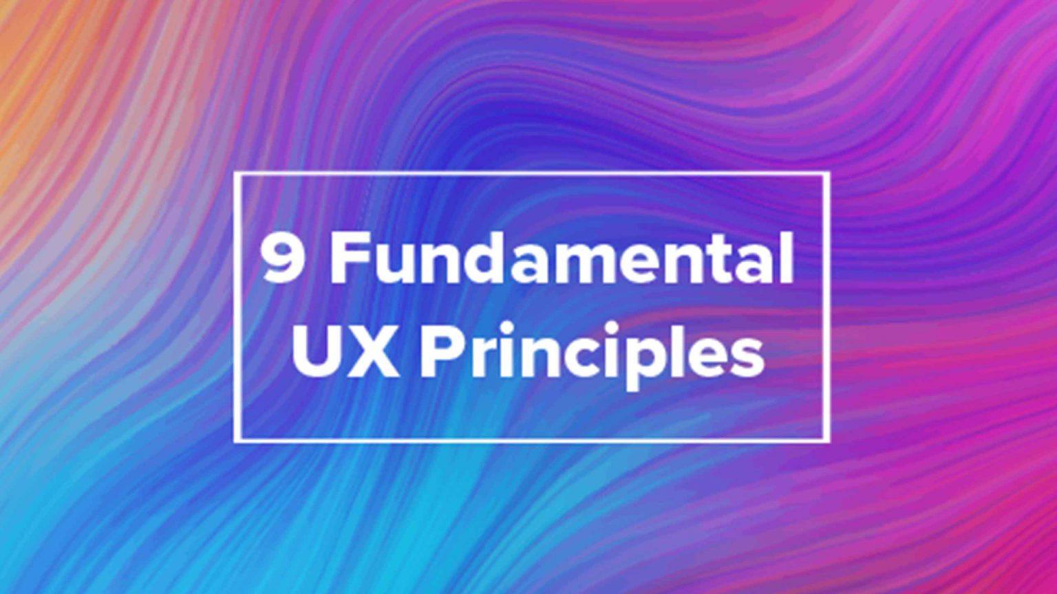 Fundamental UX Principles